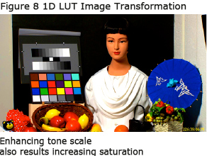 Figure 8 1D LUT Image Transformation